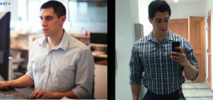 From skinny and exhausted to feeling in control and making shirt buttons cry for help.
